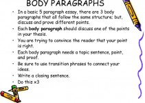 The Body Paragraphs Of Paper