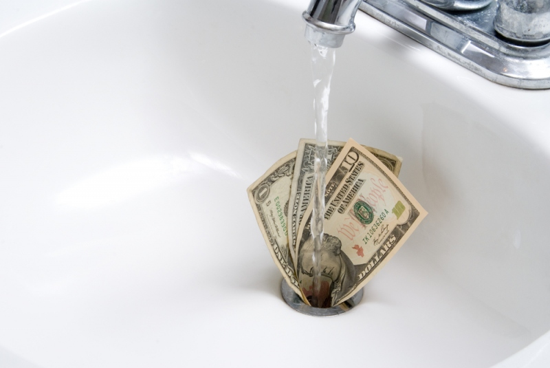 9 Ways You Are Throwing Money Down The Drain